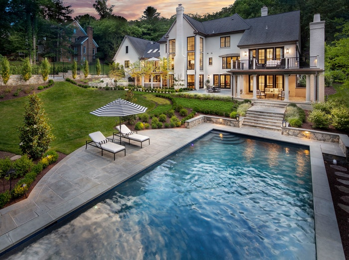 backyard of house with pool