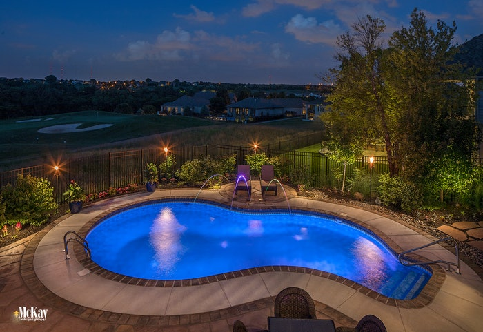 outdoor pool area