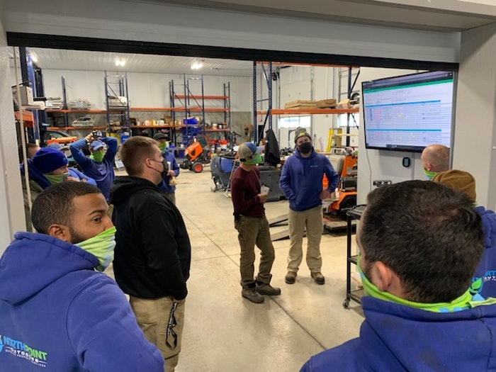 North Point Outdoors' employees during training